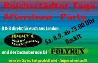Flyer - Reichsstädter Tage - Aftershow - Party
