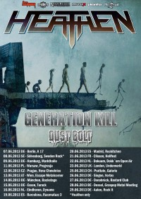 Flyer - HEATHEN + Generation Kill + Dust Bolt