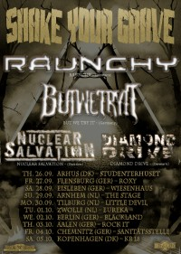 Flyer - Raunchy + But We Try It + Nuclear Salvation + Diamond Drive
