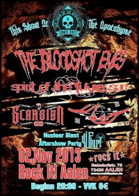 Flyer - The Bloodshot Eyes + Spirit Of The Future Sun + Scarsign + Art Against Agony