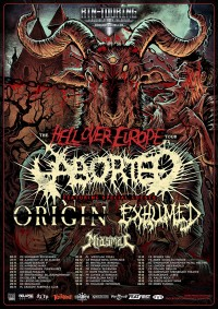 Flyer - Aborted + Origin + Exhumed + Miasmal