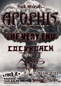 Flyer - Apophis + The Very End + Cockroach + Anubis