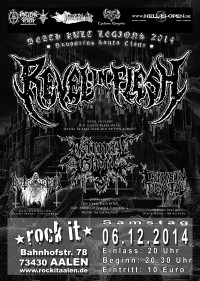 Flyer - Revel In Flesh - Death Kult Legions Album Release Show