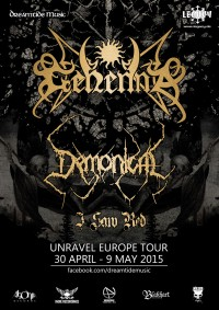 Flyer - Gehenna + Demonical + I Saw Red