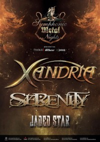 Flyer - Xandria, Serenity & Jaded Star