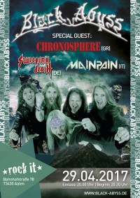 Flyer - Black Abyss special Guests: Chronosphere MainPain Sweeping Death