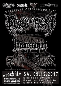 Flyer - Revel In Flesh, Incarceration, Goath & Disgusting Perversion