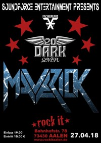 Flyer - Maverick / 20 Dark seven / FACINGFEARS