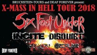 Flyer - Six Feet Under - XMAS IN HELL - Tour 2018