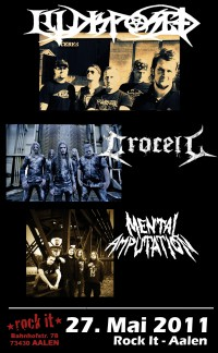 Flyer - Illdisposed + Crocell + Mental Amputation